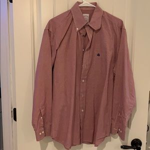 Red Brooks Brothers Button Down
